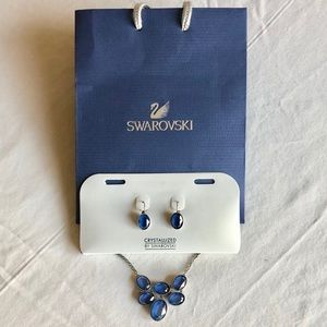 Swarovski Jewelry Set Necklace w/ Matching Earring
